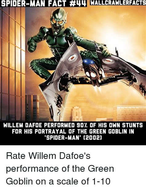 Green Man Meme - spider man fact 44 wallcrawlerfacts willem dafoe