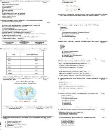 test geografia geografia sprawdzian pomocy â zadania å ciä gi i testy