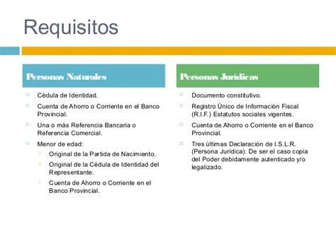requisitos para abrir una cuenta corriente en banco de bbva provincial