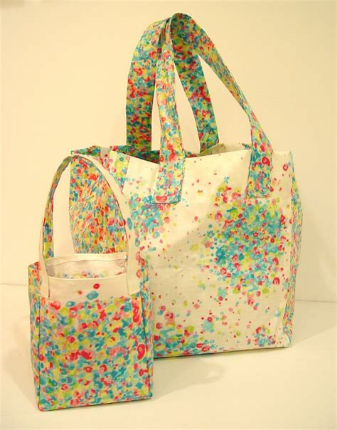 pattern for oilcloth tote bag oilcloth mini shopping bag punkin patterns