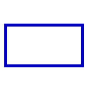Rectangle Outline Clip by Vertical Rectangle Shape Clipart