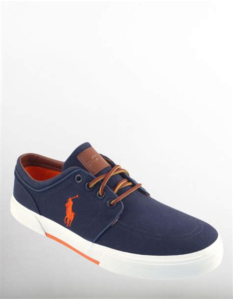 polo mens sneakers polo ralph faxon sneakers in blue for navy lyst