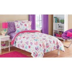 Childrens Bed Sets Mainstays Pretty Princess Bed In A Bag Bedding Set Walmart