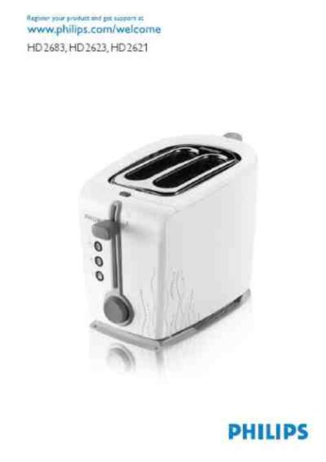 Toaster Philips Hd 2384 philips hd 2683 toaster manual for free now