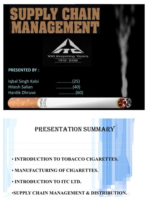 Uhd Mba Supply Chain Management Salary by Supply Chain Of Itc Cigarattes
