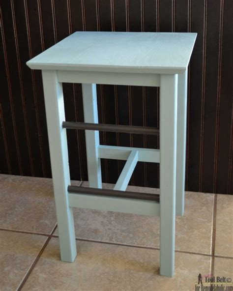 build your own bar stools remodelaholic diy bar stools with metal bar accents
