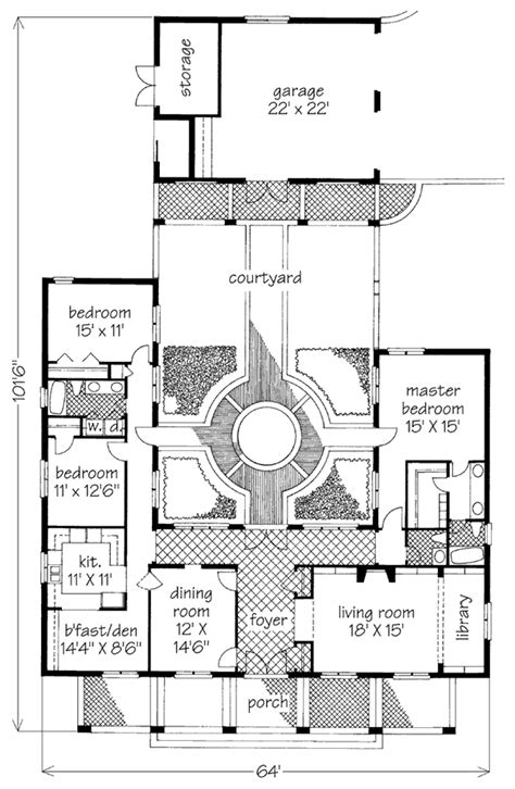 house plans with courtyards courtyard garden hse david sulivan southern living