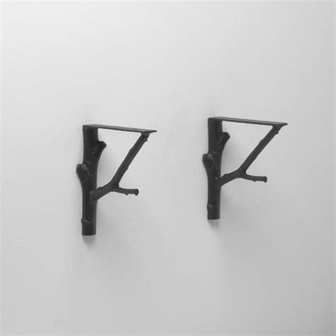 Branch Shelf Brackets by Made To Resemble The Texture Of An Actual Tree Black