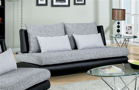 low profile living room furniture furniture of america modern two tone gray black low