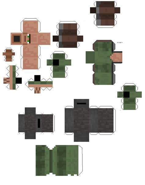 Minecraft Papercraft Mobs - papercraft traveling merchant primitive mobs request