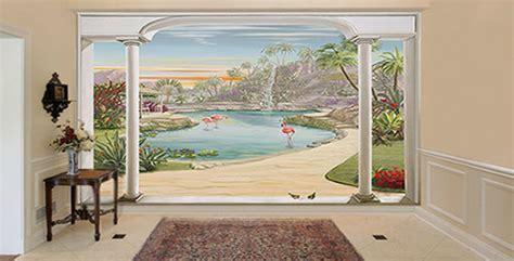 Poster Mural Exterieur by D 233 Coration Murale Trompe L Oeil Sur Papier Peint Ou Toile