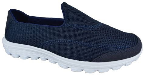 womens slip on lightweight sports walking shoes