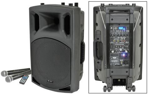 Speaker Portable Lifier Wireless Pa 15 E 15 Inch qtx qx15pa portable pa speaker with bluetooth getinthemix