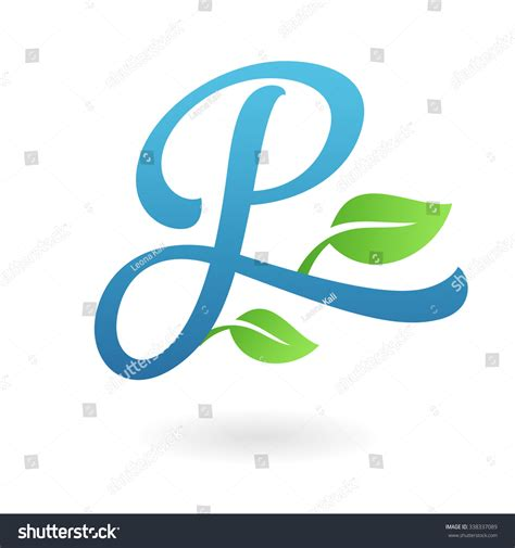 business letter template vector p letter business logo design template stock vektor