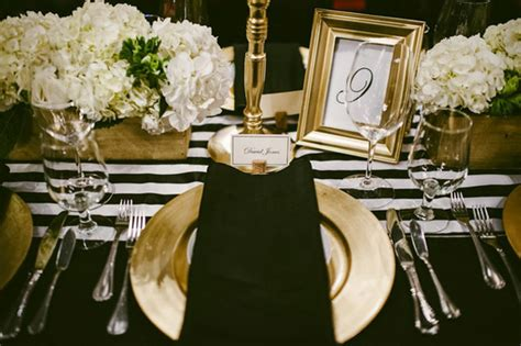 white and gold table settings black white and gold table setting idea via