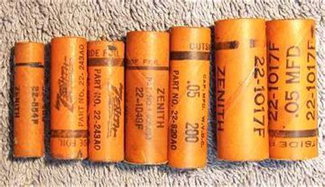 replacing wax capacitors zenith wax paper capacitor restuffing procedure