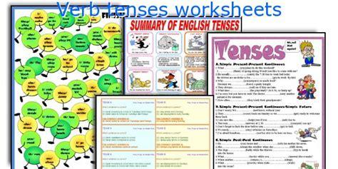 swing verb tenses present tenses review worksheet