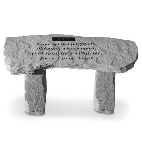 personalised garden bench gone yet not forgotten personalized stone garden bench