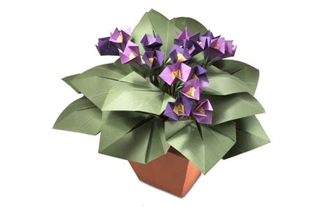 How To Make Paper Violets - origami violets paper plants