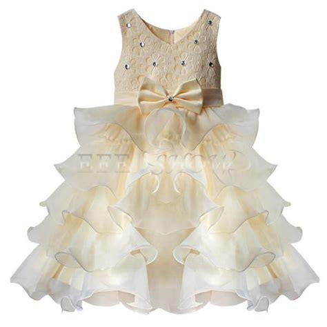 robe de chambre bebe fille enfant fille b 233 b 233 princesse robe tenue de soir 233 e mariage ceremonie bapteme beige ebay