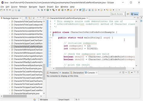 pattern java any character java character isvalidcodepoint int codepoint method exle