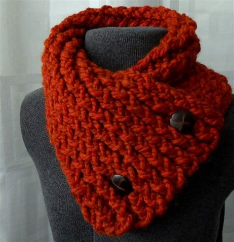 scarf with buttons spice scarflette winter scarf