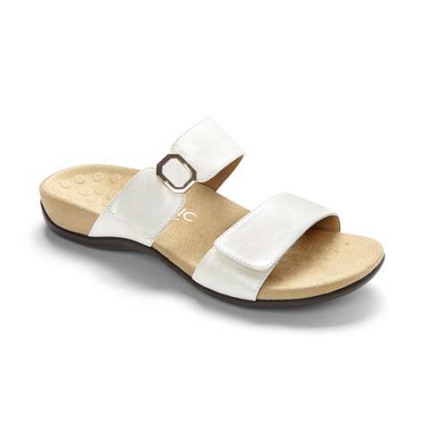 white orthopedic sandals vionic camila orthotic sandals white sports supports