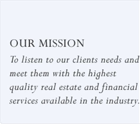Select Realty Real Estate Mission Statement Template