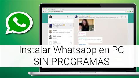 tutorial para usar whatsapp en el celular instalar whatsapp en pc sin programas youtube