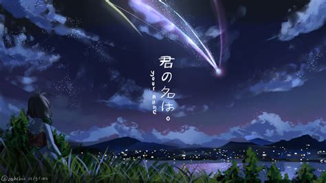 wallpaper full hd photo download makoto shinkai kimi no na wa wallpaper full hd free download