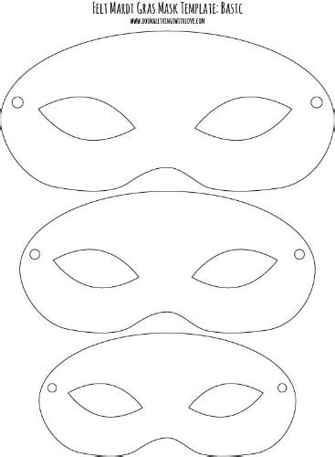 Free Printable Mardi Gras Mask Templates by Felt Mardi Gras Masks For Free Printable Do Small