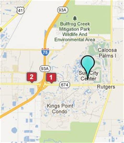 map of sun city center florida sun city center fl hotels motels see all discounts