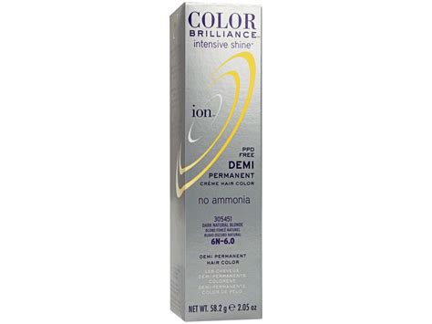 ion demi permanent hair color ion intensive shine demi permanent creme hair color 6n