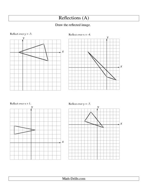 Reflection Worksheet Answers by Reflections Math Worksheet Answers Translation And