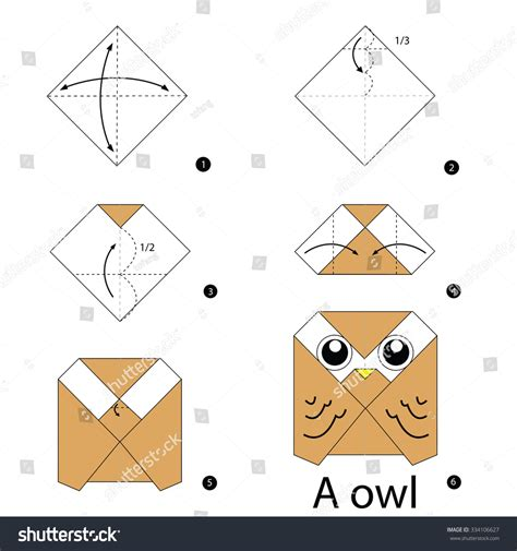 Origami Owl Easy - step by step how to make origami owl stock