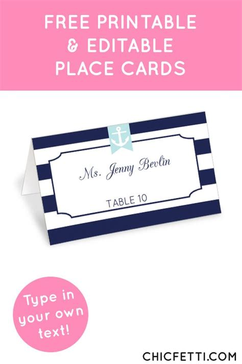 Nautical Place Cards Template by Nautical Place Cards Place Cards And Nautical On