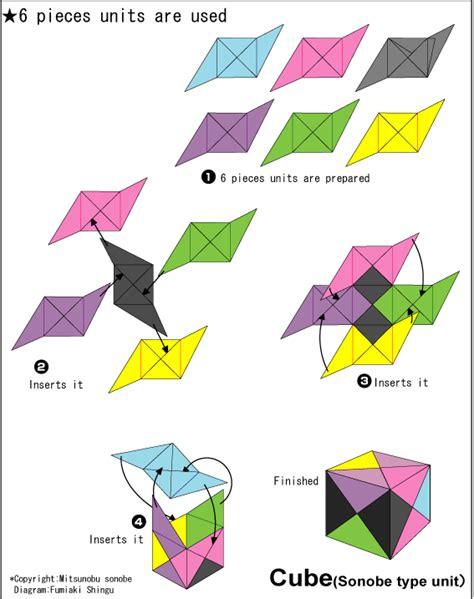 Simple Origami Cube - origami cube easy origami for