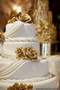 Wedding Cake Gold White And Gold White And Gold Wedding Cake Pictures
