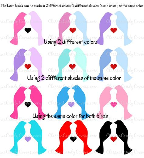 lovebird colors personalized lovebirds 2 hershey kisses stickers labels