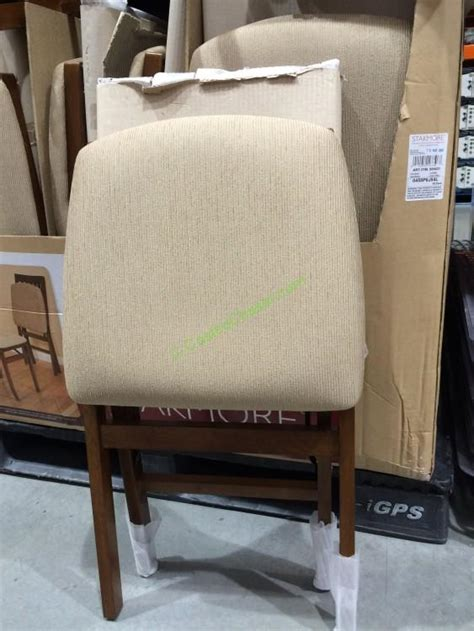 Wood Folding Chairs Costco by Stakmore Solid Wood Folding Chair With Padding Seat