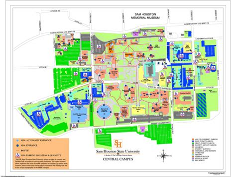 Building A Home In Michigan by Campus Map Sam Houston State University