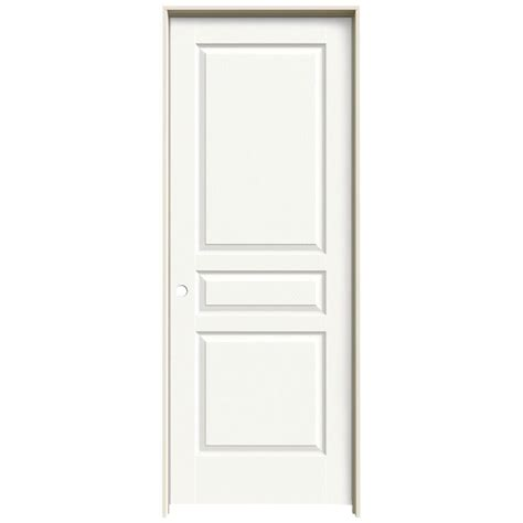 24 X 80 Interior Door Jeld Wen 24 In X 80 In Avalon White Painted Right Textured Hollow Molded Composite