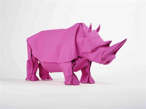 Origami Rhino - origami rhino unfolding mabona origami x stoptrick the