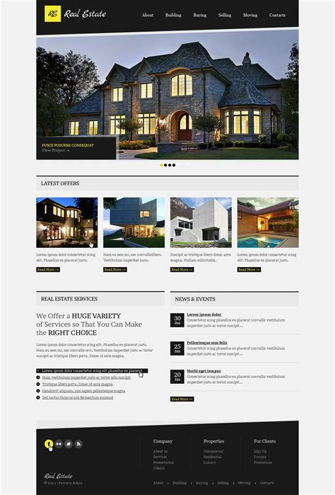 Real Estate Website Template 37585 Real Estate Website Templates