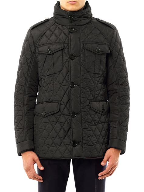 Hackett Quilted Jacket by Hackett Quilted Jacket In Black For Lyst