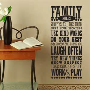 Family Rules Wall Sticker vinyl wall decal family rules subway art wall decal