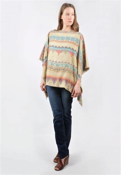 etro quilted jacket in tribal pattern santa fe dry goods etro jute poncho top in tribal pattern 187 santa fe dry