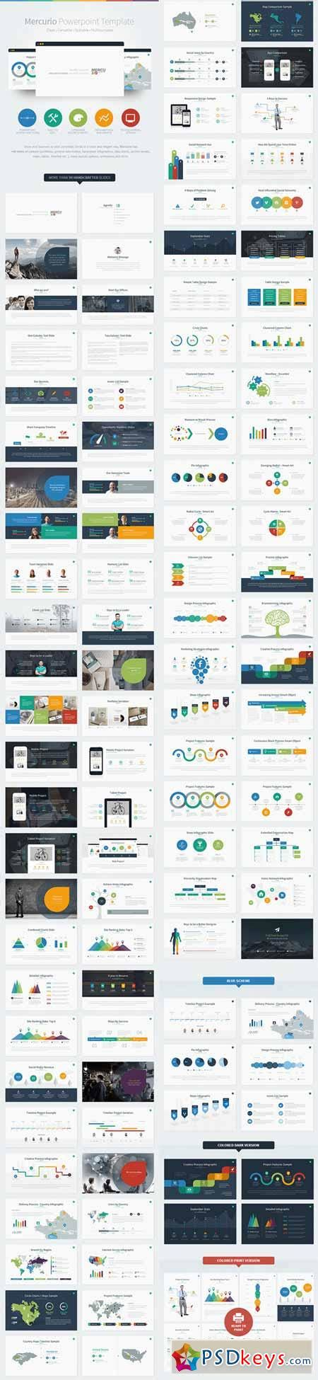 Mercurio Powerpoint Presentation Template 8527176 187 Free Download Photoshop Vector Stock Image Powerpoint Templates Torrent
