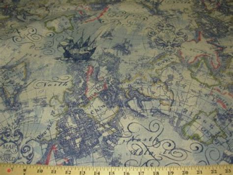 world map upholstery fabric bty old world map magellan awsome linen upholstery fabric
