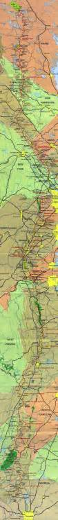 map of appalachian trail in appalachian trail map detailed lists